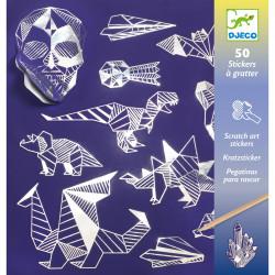 50 SCRATCH ART STICKERS - IRON